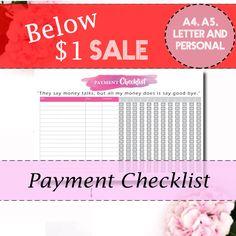 Budget planner Bill checklist Bill tracker by CleverClogsPrintable