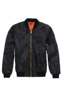 A PacSun.com Online Exclusive! Civil constructs a classic men's jacket found at PacSun. The Continuous Reversible Bomber Jacket for men has a black body, Civil patch sewn on the chest, and bright orange reverse look.	Reversible bomber jacket with Civil patch sewn on the chest	Zip front	Front hand pockets	Machine washable	100% polyester 	Imported