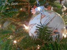 A bulletin in a glass ornament is a quick and beautiful way to preserve wedding memories!  Wedding Ornament Trio DIY|Jo, My Gosh!