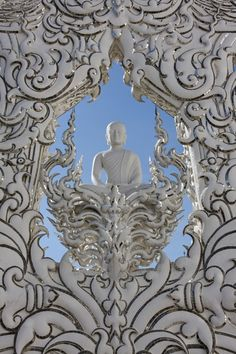 The White Temple in Thailand's Chiang Rai, where the Buddha shares real estate with Superman, Batman and Neo from the Matrix.