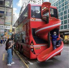 Hong Kong public transportation buss