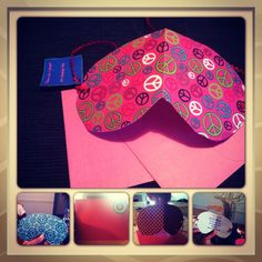 Slumber party invites in the shape of an eye mask.
