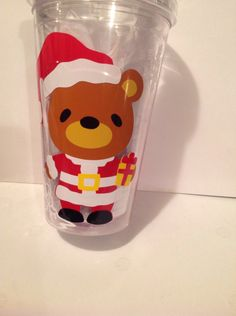 A personal favorite from my Etsy shop https://www.etsy.com/listing/257535448/christmas-cup-bling-black-santa-tumbler
