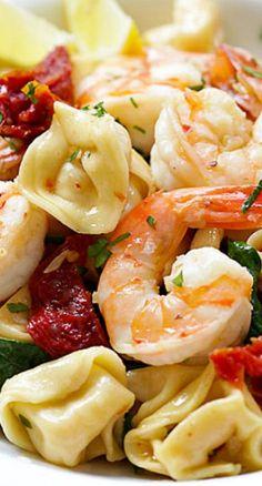 Garlic Shrimp Tortellini