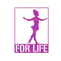 FOR LIFE Young Dancer Iron On Decal by GirlsLoveGlitter on Etsy