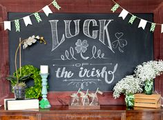 St Patrick's Day Table | St. Patrick's Day Easy Home Decor - Frog Prince Paperie