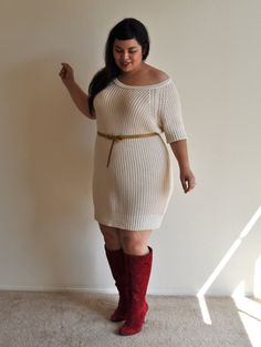 e00dcde970f cream plus size sweater dress  UNIQUE WOMENS FASHION Purple Plus Size  Dresses