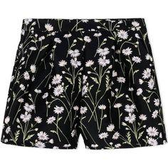 Giambattista Valli Shorts ($610) ❤ liked on Polyvore featuring shorts, black, floral shorts, floral print shorts, floral printed shorts, brocade shorts and flower print shorts