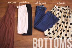 wardrobe basics- bottoms