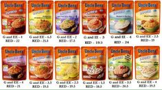 Uncle Bens Rice Pouches :)