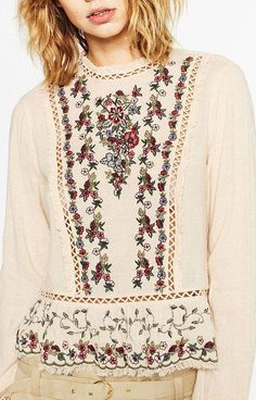 Specifications: Decoration:Embroidery Clothing Length:Regular Sleeve Style:Regular Pattern Type:Floral Style:Fashion Fabric Type:Broadcloth Material:Polyester Collar:O-Neck Sleeve Length:Full Size Sho