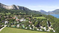 vue aerienne - Camping Lake Annecy