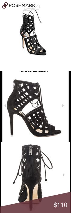 Steve madden heels New shoes, super cute, also have them in beige. Size 7. No box. Steve Madden Shoes Heels