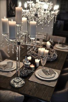 silver table scape