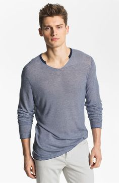 Zadig & Voltaire Notched Stripe Knit T-Shirt available at @Nordstrom