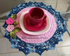 Sousplat Flores com Barroco da Círculo - Katia Ribeiro Moda e Decoração Handmade
