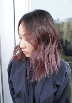 Chocolate Lilac is one of the sweetest custom colors we've ever created. Check out this delicious shade today. Lilac Hair Dye, Pastel Blue Hair, Brown Hair Colors, Purple Hair, Hair Colour, Hair Color Balayage, Hair Highlights, Overtone Hair, Red Scene Hair