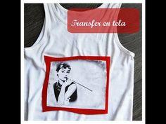 Tutorial: transfer en tela. Cómo imprimir imágenes en camisetas - YouTube