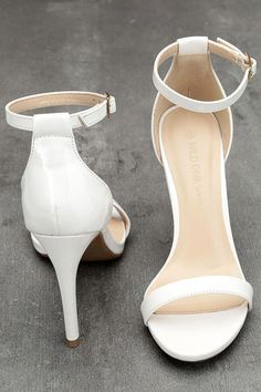 268ae0136172 The Betti White Patent Ankle Strap Heels are the go-to new dancin  shoes