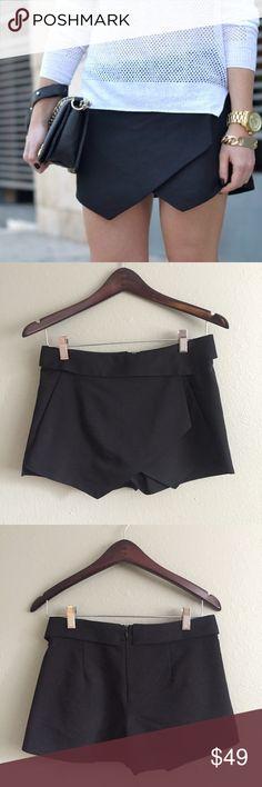 Authentic black Zara skort Authentic Zara black skort, a blogger favorite. EUC. Zara Shorts Skorts