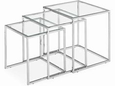 Zuo Pasos Contemporary Glass Top Nesting Tables - click to enlarge