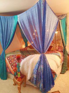 Boho Bed Canopy Gypsy Hippie Hippy HippieWild by HippieWild