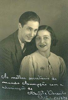 OSCARITO no início da carreira e sua jovem esposa