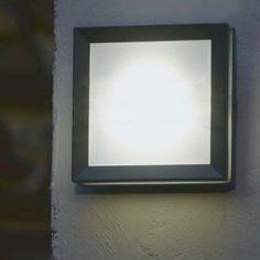 Lutec Mini Seine Low Energy Outdoor Wall Light - Plain