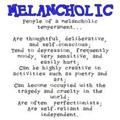 melancholy phlegmatic infographic - Google Search