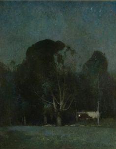 Emil Carlsen (American, 1848-1932), Night, Old Windham (also called Nocturne and Night at Windham), 1904. Oil on canvas, 50 x 40 in.