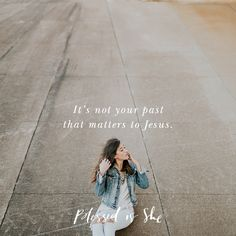 But it's not your past that matters to Jesus. You won't ever hear Him call you by your sin. | #BISSisterhood | Catholic women\'s devotions | Daily Christian inspiration and encouragement