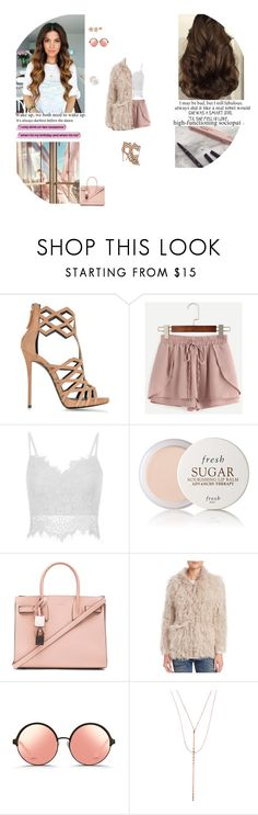 """""""She's Sweet As Sugar And Tough As Diamonds"""" by smil-ly ❤ liked on Polyvore featuring Giuseppe Zanotti, Fresh, Yves Saint Laurent, IRO, Matthew Williamson and Lana"""