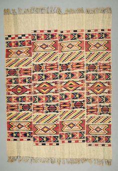 Africa | Wrapper ~ aso olona ~ from the Ijebu Yoruba people of Ijebu-Ode, Ogun State, Nigeria | ca. Early to mid 20th century | Cotton.