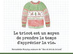 Apprecier la vie avec le tricot