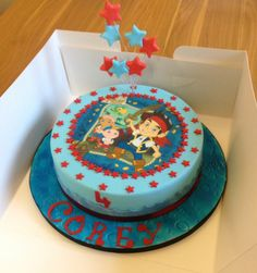 Jake cake with icing print topper