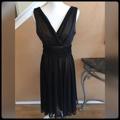✨Gorgeous Black & Tan Dress✨ Excellent condition. Worn only once. Purchase at Saks. D.J. Summers Dresses Midi
