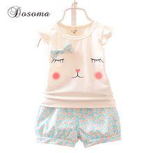 Estilo baby girl roupas recém-nascido 2015 verão Europen & American camisa bonito de t + flor shorts set moda dos desenhos animados crianças roupas(China (Mainland))