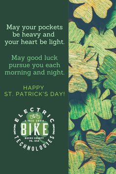 Pin and Share this for Good Fortune This Season! E Bike Kit, Bike Humor, Electric Trike, E Mtb, Bike News, Good Fortune, St Paddys Day, Guinness, Liberty