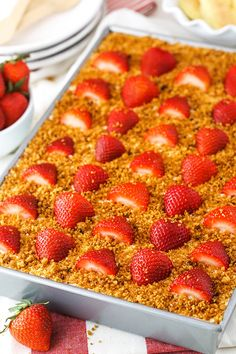 This Strawberry Shortcake Icebox Cake is an easy dessert that's perfect for summer! Made with fresh strawberries, a berry cream filling and soft ladyfingers, it's light, simple and layered to perfection! No Bake Desserts, Easy Desserts, Strawberry Shortcake Dessert, Buckwheat Cake, Butter, Strawberry Recipes, Strawberry Cakes, Strawberries And Cream, Savoury Cake