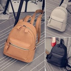 Women s Faux Leather Small Mini Backpack Rucksack Casual Purse Cute bag Gift bec611dd2e