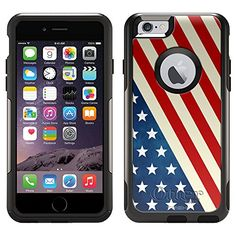 OtterBox Commuter Apple iPhone 6 Case  Slanted American Flag OtterBox Case ** Continue to the product at the image link.