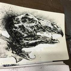 #inktober sorta #skeksis #thedarkcrystal #jimhenson #henson #jasonshawnalexander #drawing #sketchbook #sketch #art #bird @jamesfrancotv @dinorawalcott @satinephoenix  #needmoreink
