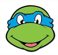 teanage mutant ninga turtles party ideas | Teenage Mutant Ninja Turtles Single Leonardo TMNT Fun CARD Party Face ...