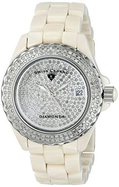 Swiss Legend Womens 20052BGWFS Karamica Diamonds Collection Stainless Steel Watch with Link Bracelet ** You can find out more details at the link of the image.