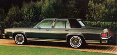 1982 Mercury Grand Marquis Four Door Sedan. Owned the gold version. Second car. First car that was reliable. Used to be embarrassed by this tank and now I realize It was pretty pimp.