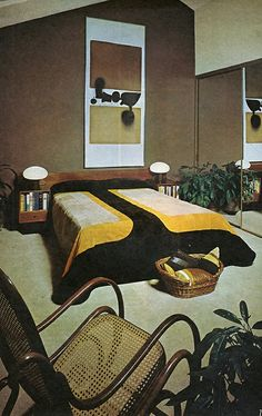70's design bedroom- i miss this rocker