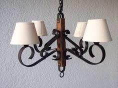 Resultado de imagen para lamparas de techo RUSTICAS