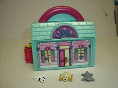 Pound Puppies Miniature Houses with 3 Puppies - I had this one too, and those three puppies/purry.