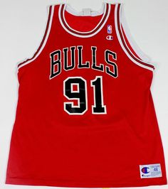 90 s Vintage Chicago Bulls Dennis Rodman Basketball Jersey Nylon 3dc8830b8