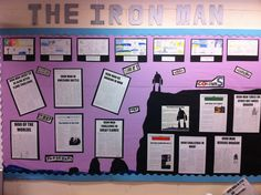 The Iron Giant - Writing a newspaper report. Classroom Display Boards, Display Boards For School, School Displays, Classroom Displays, Classroom Cheers, Owl Classroom, Classroom Design, Light Writing, Writing A Book